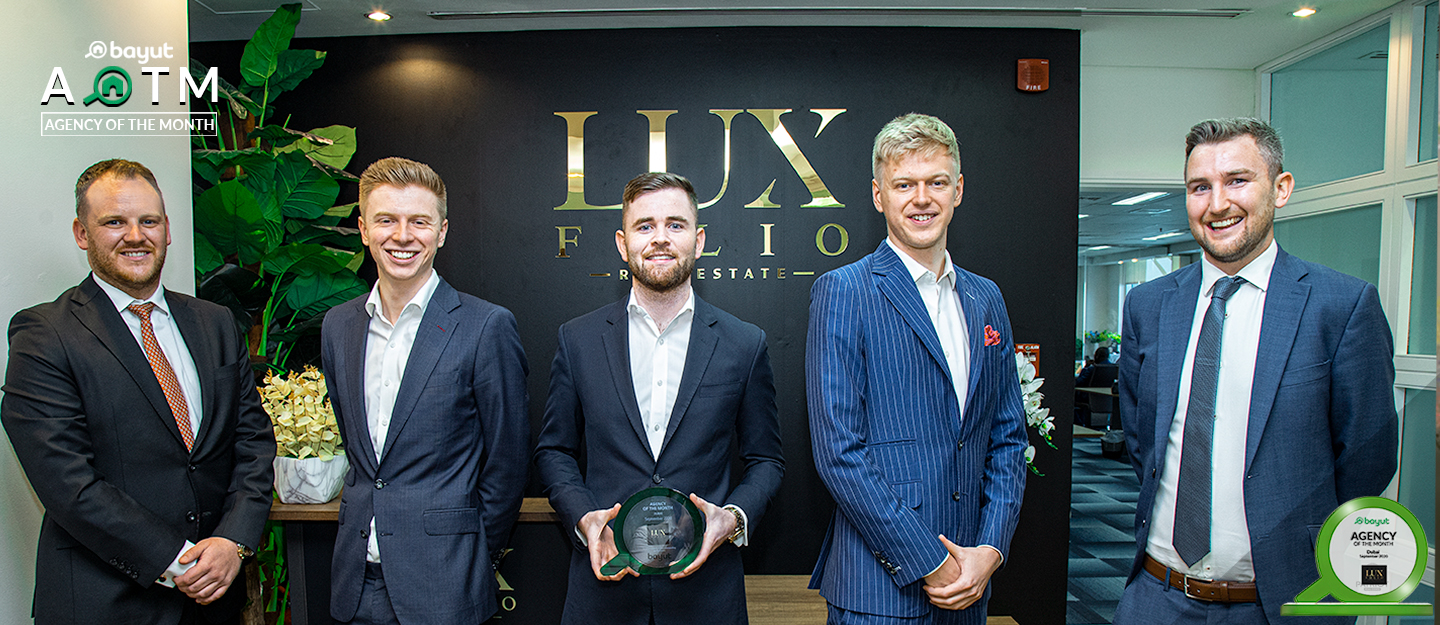 Agency of the Month Dubai for September 2020: Congratulations Luxfolio Real Estate!